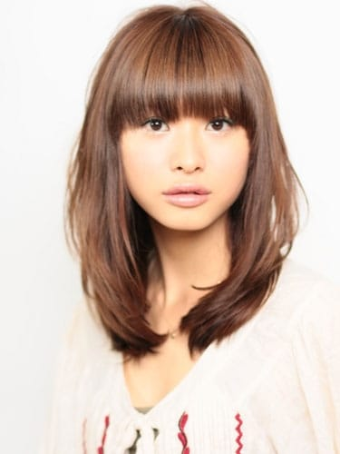 髪型 セミロング パーマ 40代