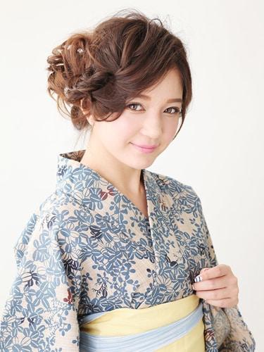 浴衣・髪型