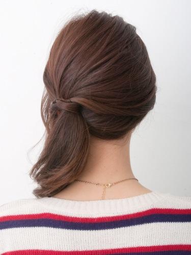 【まとめ髪】簡単カジュアルサイドアップ