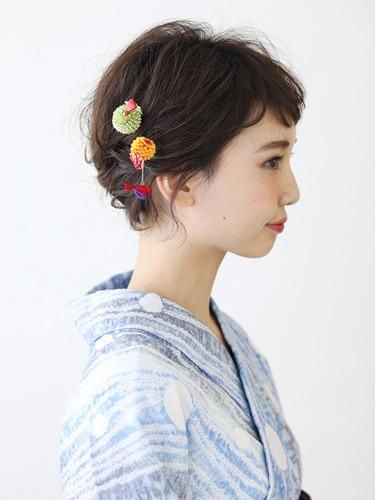 4 9 簡単 浴衣に似合う髪型 ショートヘアスタイル ヘア特集 All About